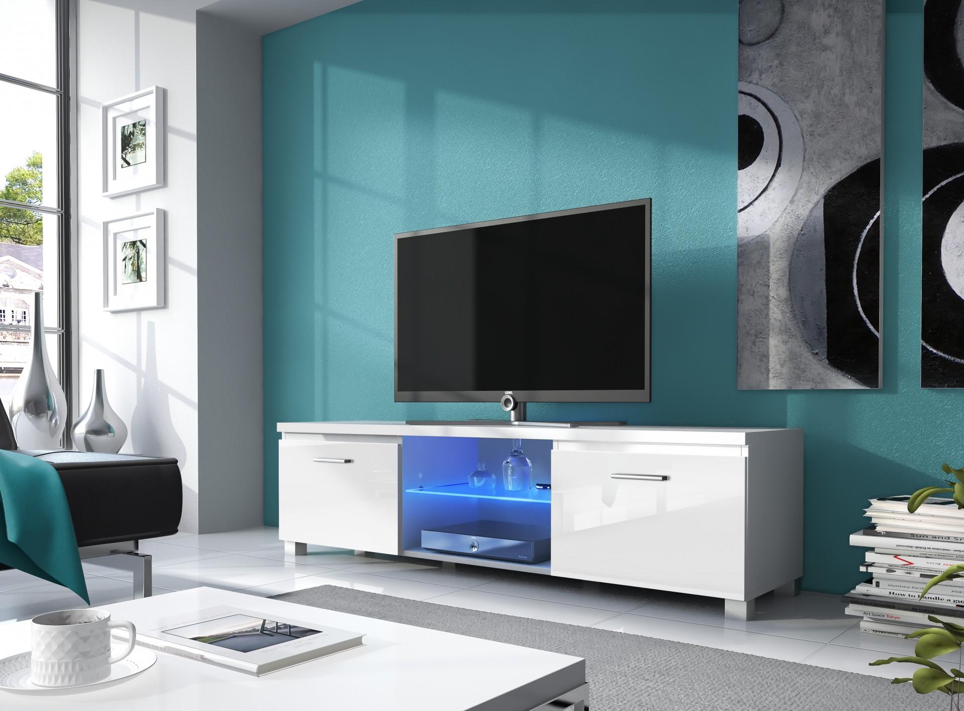 Móvel de Tv com luz led - disponível em 2 cores