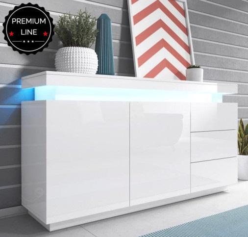 Aparador One com luz de presença LED - Disponível em 2 cores