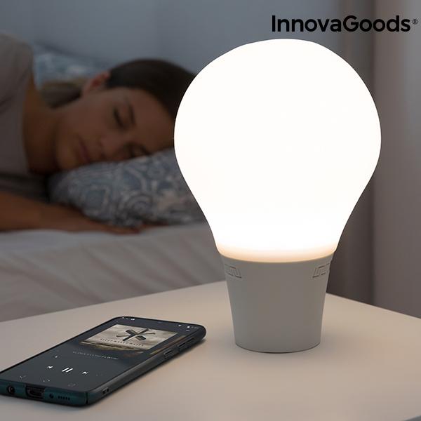Lâmpada LED Táctil de Silicone com Colunas Bluetooth