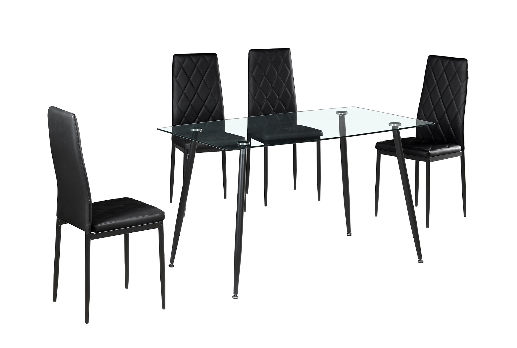 Conjunto de Mesa e 4 Cadeiras - disponível em 2 cores