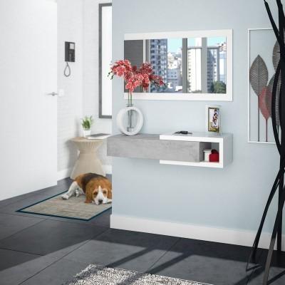 Móvel de Entrada com Gaveta e Espelho incluído - Disponível em 2 cores