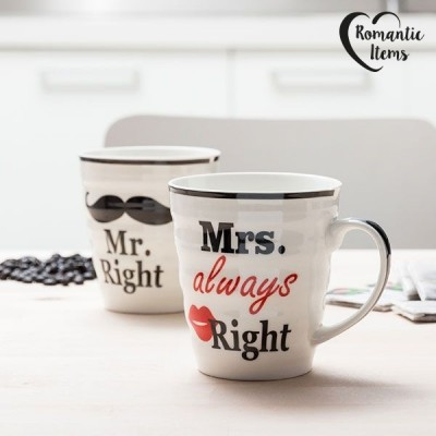 Conjunto de Canecas Mr & Mrs Right