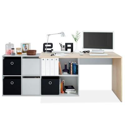 Secretária Multiposição XL com Móvel de Arrumação - Disponível em 4 cores