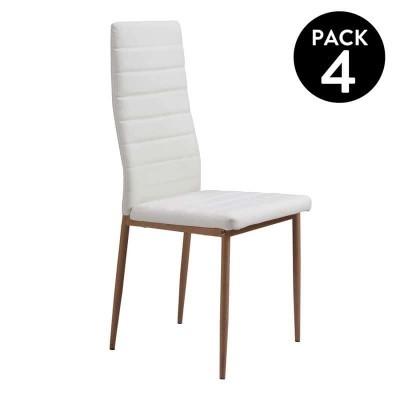 Pack de 4 Cadeiras de Refeição - Disponível em 4 cores