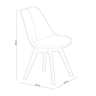 Pack de 4 Cadeiras Tower Tecido