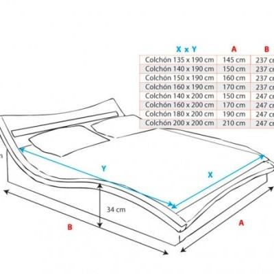 Cama de Casal Rad com luz LED - disponível em 3 medidas