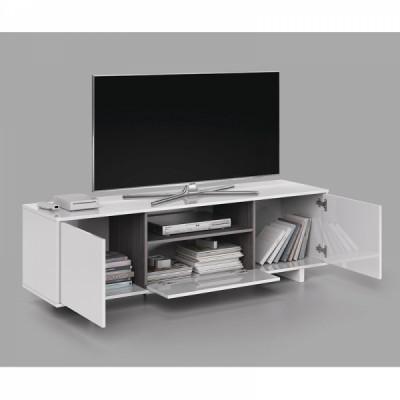 Móvel de Tv 150cm branco brilhante