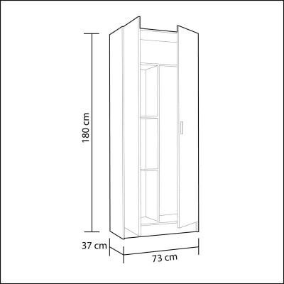 Armário Multiusos de 2 Portas - Disponível em 2 cores