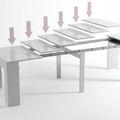 Consola e Mesa de refeição extensível - Disponível em 4 cores