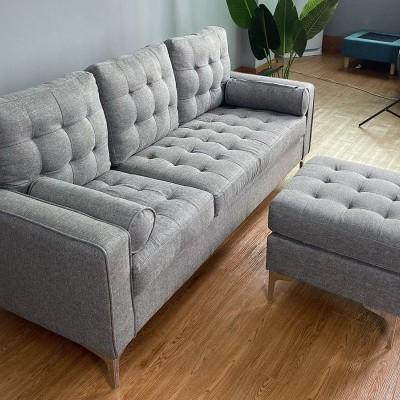 Sofá Chaise Long em tecido - disponível em 2 cores