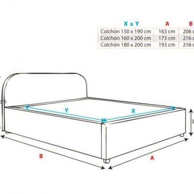 Cama de Casal com Arrumação - Disponível em 2 cores e 3 medidas