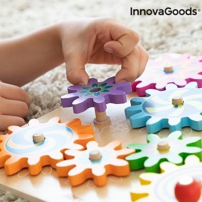 Jogo de Engrenagens de Madeira - Método de aprendizagem Montessori
