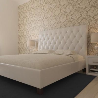 Cama de Casal Capitoné com Estrado elevatório e Cabeceira de cama - Disponível em 2 medidas e 2 cores