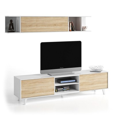 Móvel Tv + Estante estilo nórdico