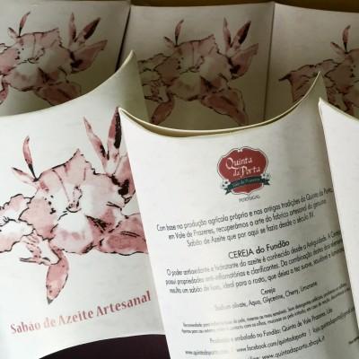 Amenities - Sabão de Azeite - Artesanal: Cereja (20 unidades mini)
