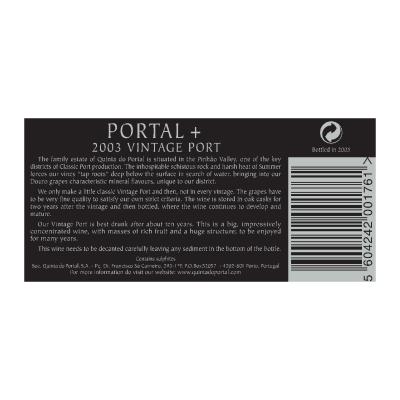 Portal + Vintage Port 2003