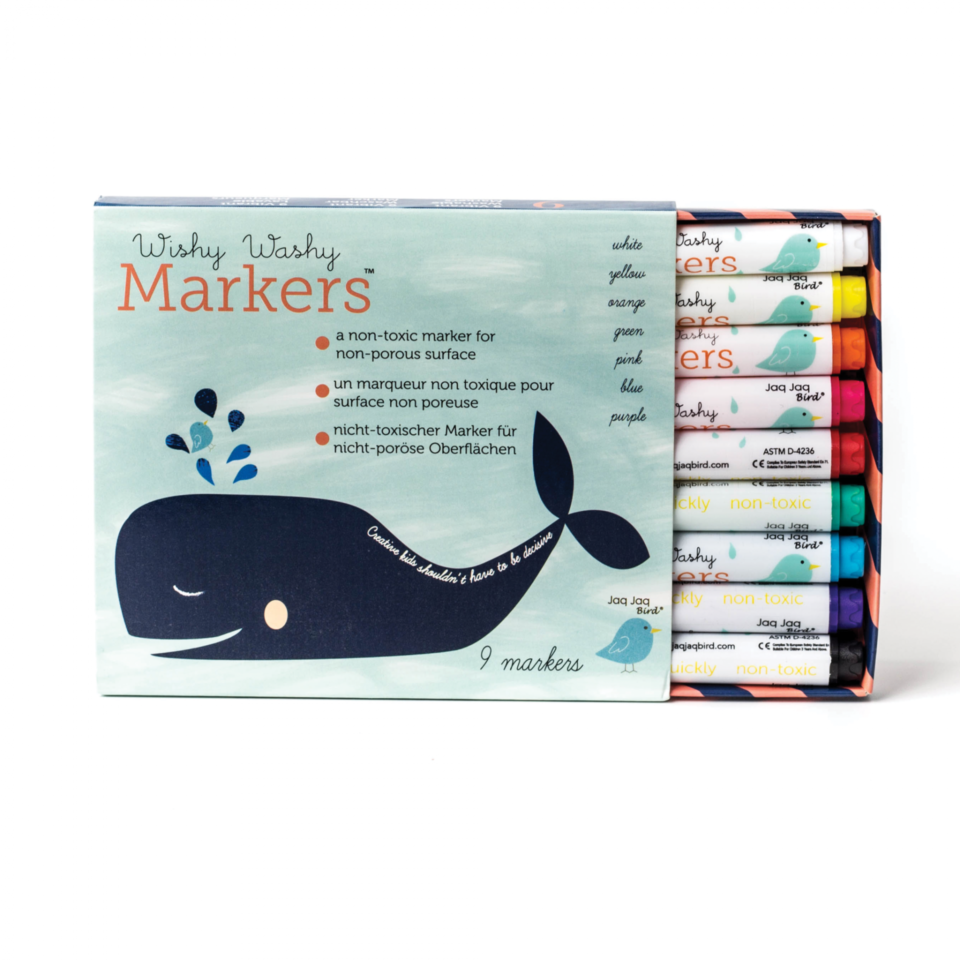 Wishy Washy Markers [marcadores 9 cores laváveis]