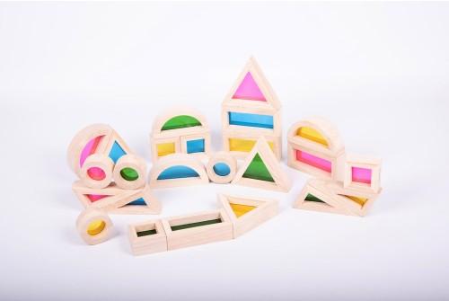 Conjunto blocos de arco-íris [madeira]