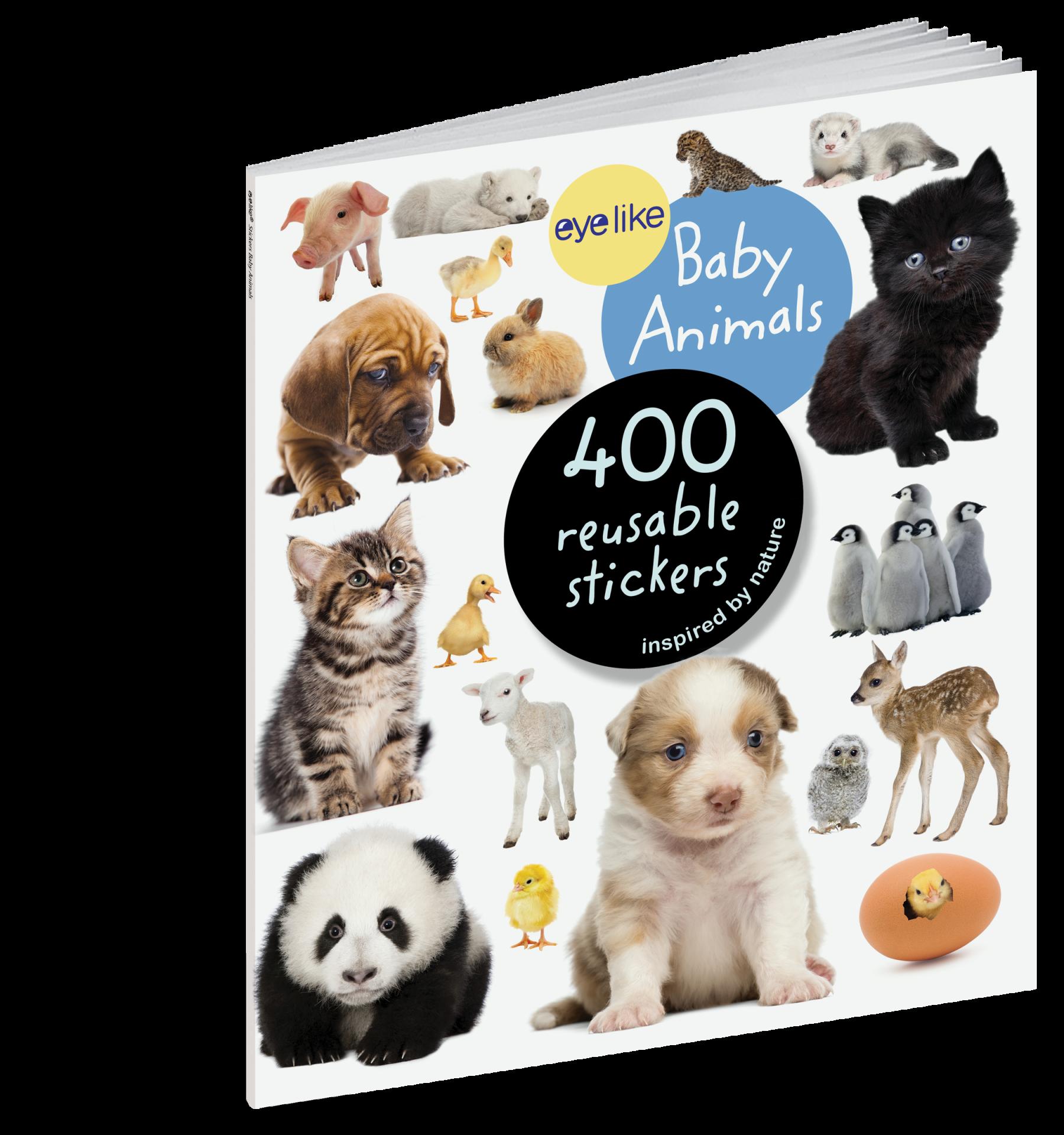 Animais Bebés - Livro de Autocolantes Reutilizáveis