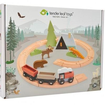 Treetops Train Set [em madeira]