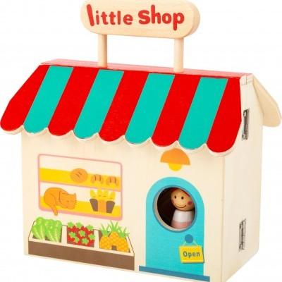 Casas de bonecas e lojas