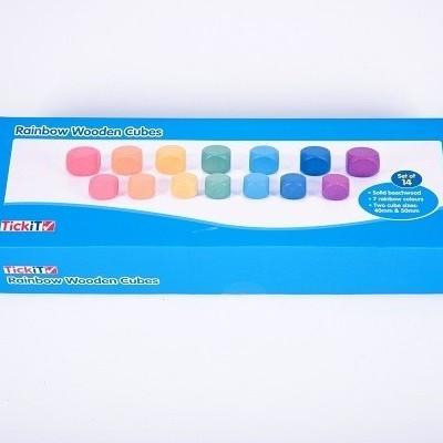 Cubos arco-íris [madeira]