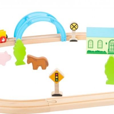 Comboio de madeira