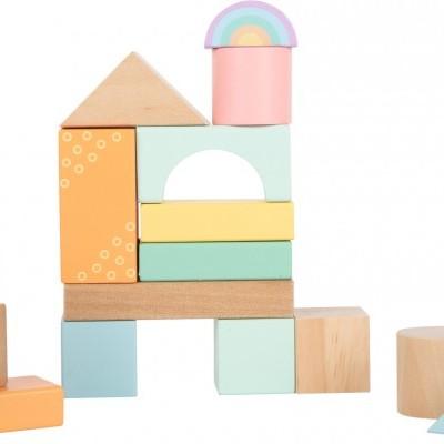 Blocos de construção em cores pastel [madeira]