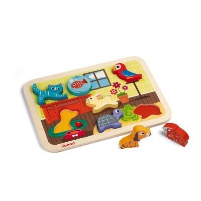 """Puzzle """"Animais de Estimação"""" [madeira]"""