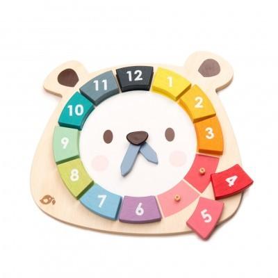 Relógio Urso Colorido [madeira]