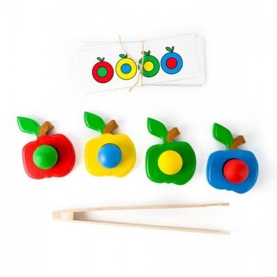Maçãs coloridas [madeira]
