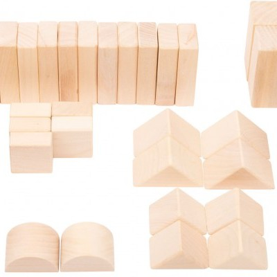 Blocos de construção de madeira natural