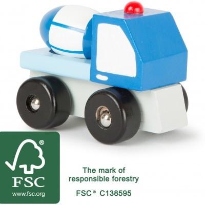 Camião misturador de cimento [madeira]