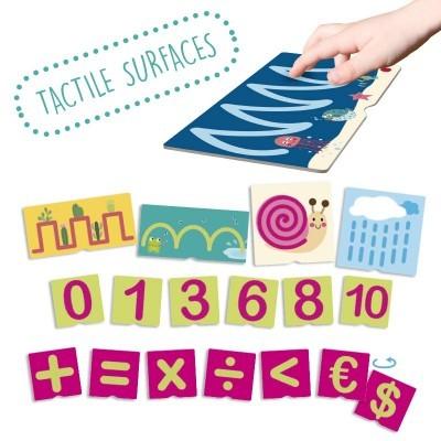 Cartão Tátil de Números Pré-Escrita