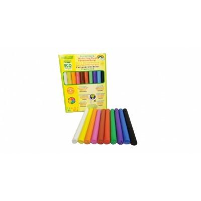 Plasticina suave, natural e orgânica 220gr [12 cores]