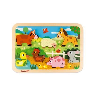 """Puzzle """"Animais da Quinta"""" [madeira]"""