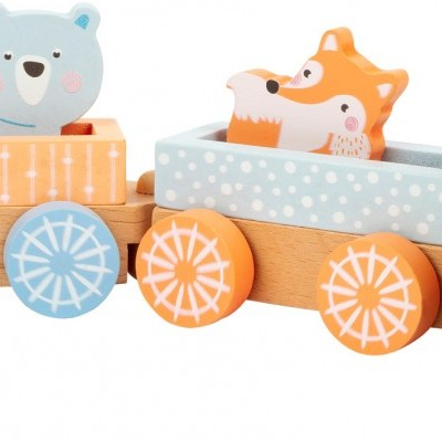 Comboio em tons pastel [madeira]