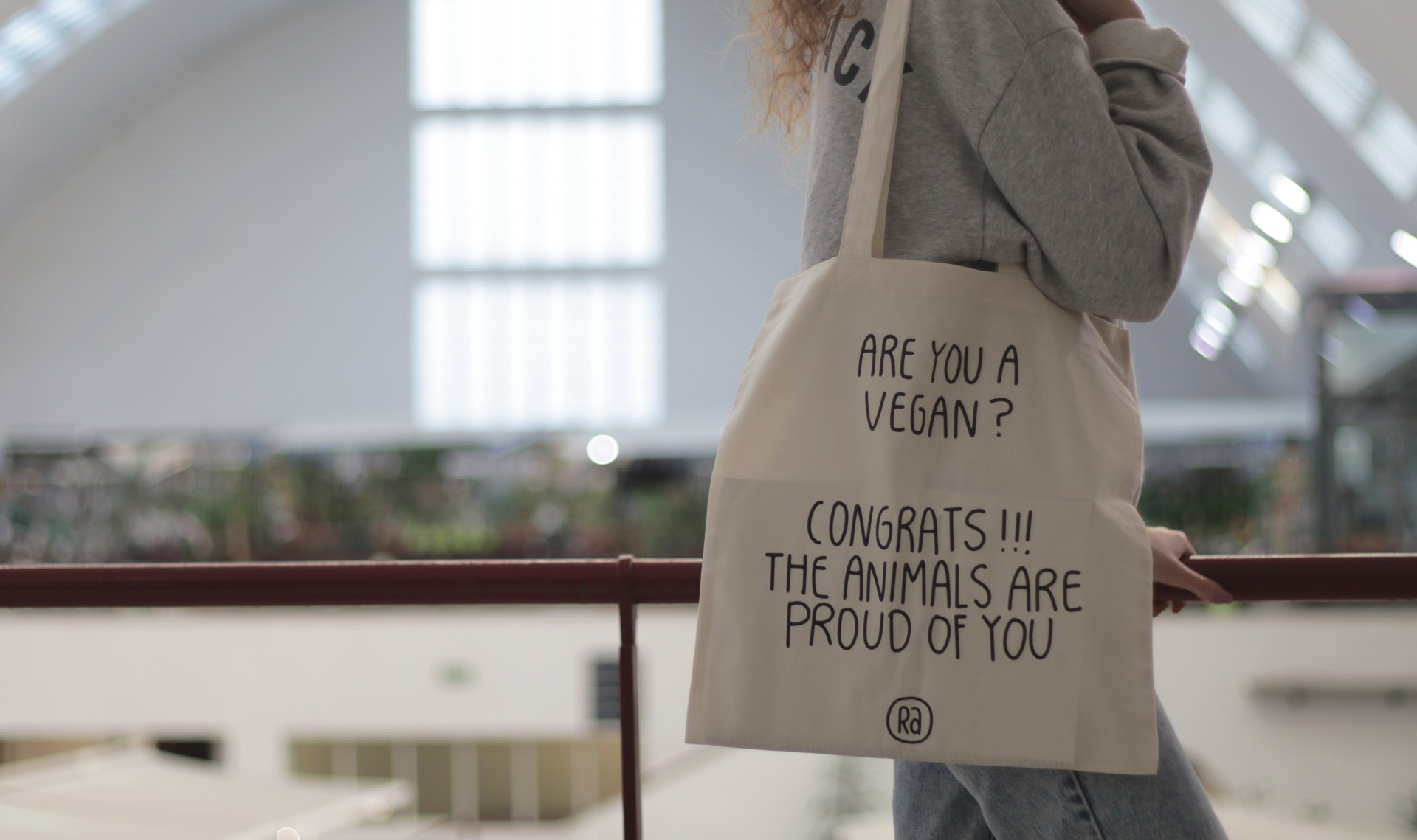 Tote Bag Bege | Are You a Vegan?