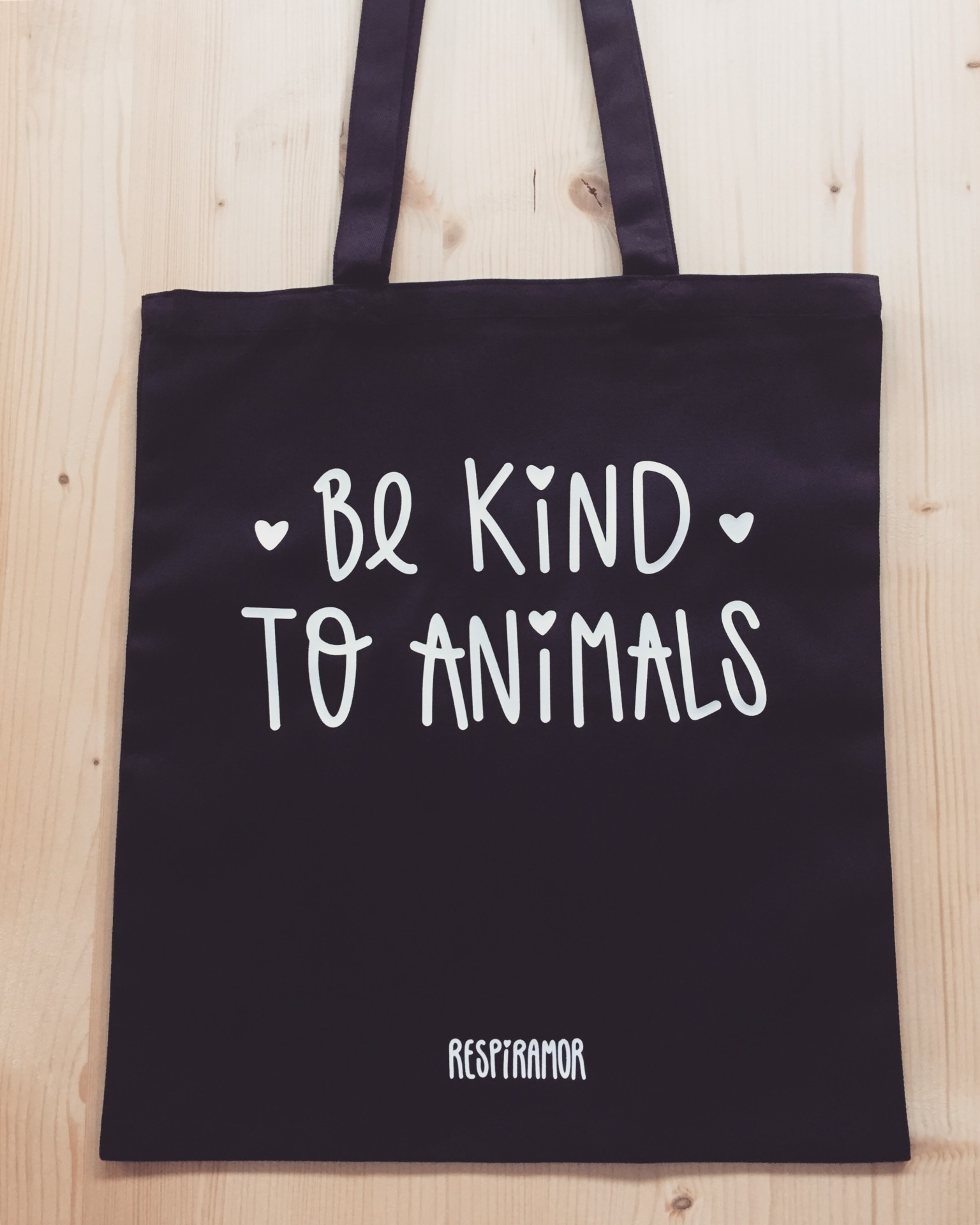 Tote Bag Preto | Be Kind To Animals