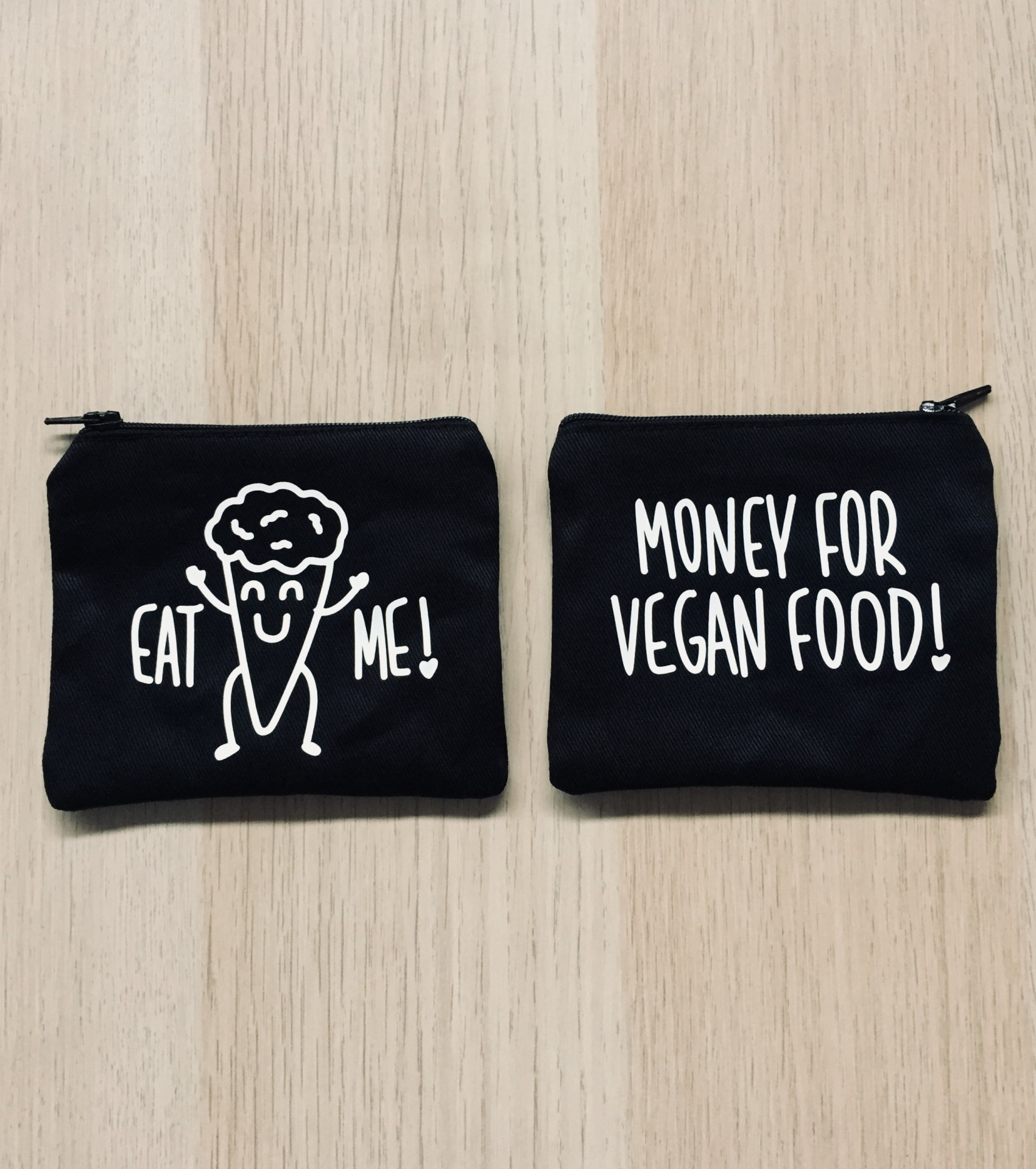 Porta-moedas Preto | Money For Vegan Food