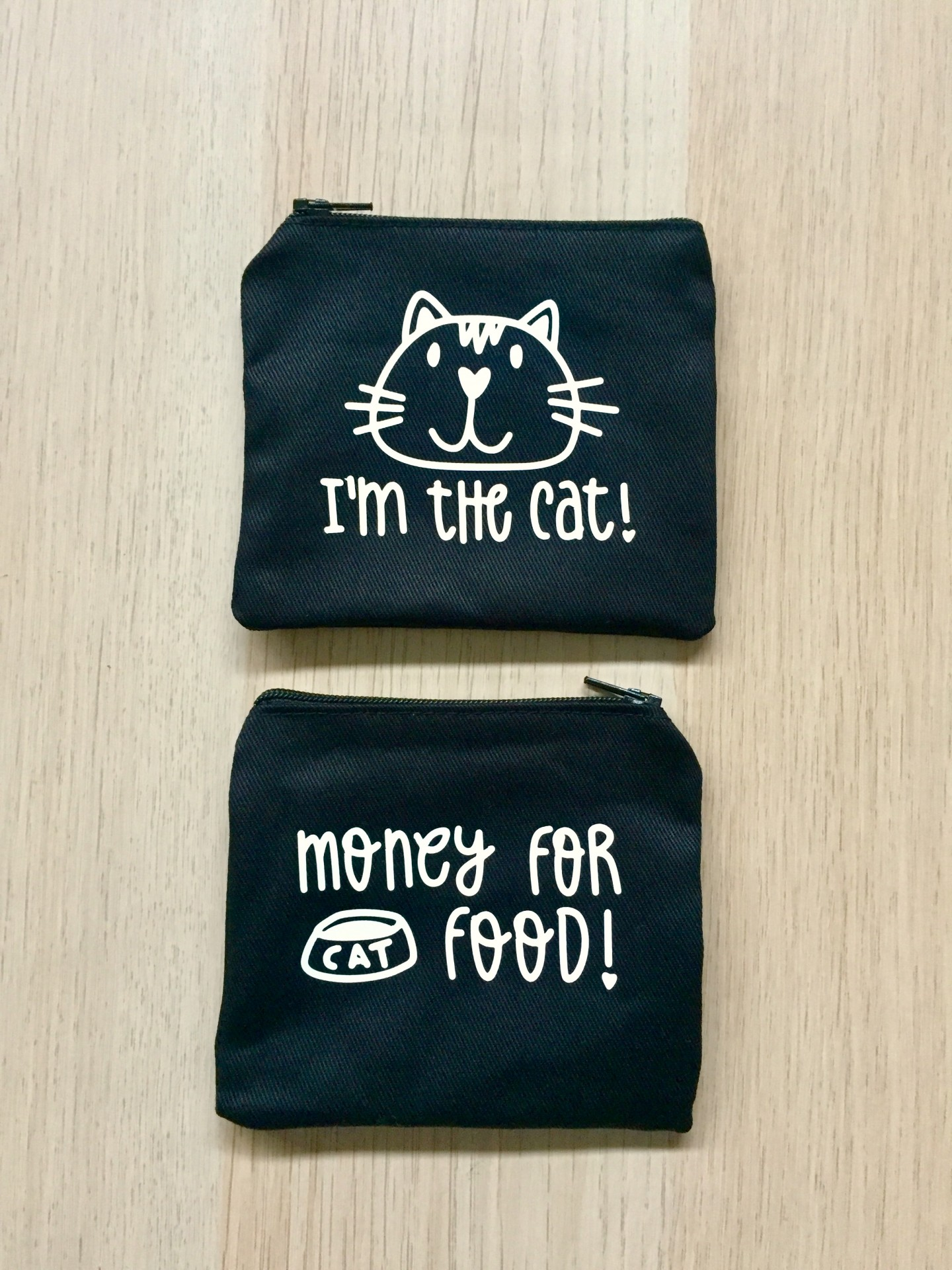 Porta-moedas Preto | Money For Cat Food