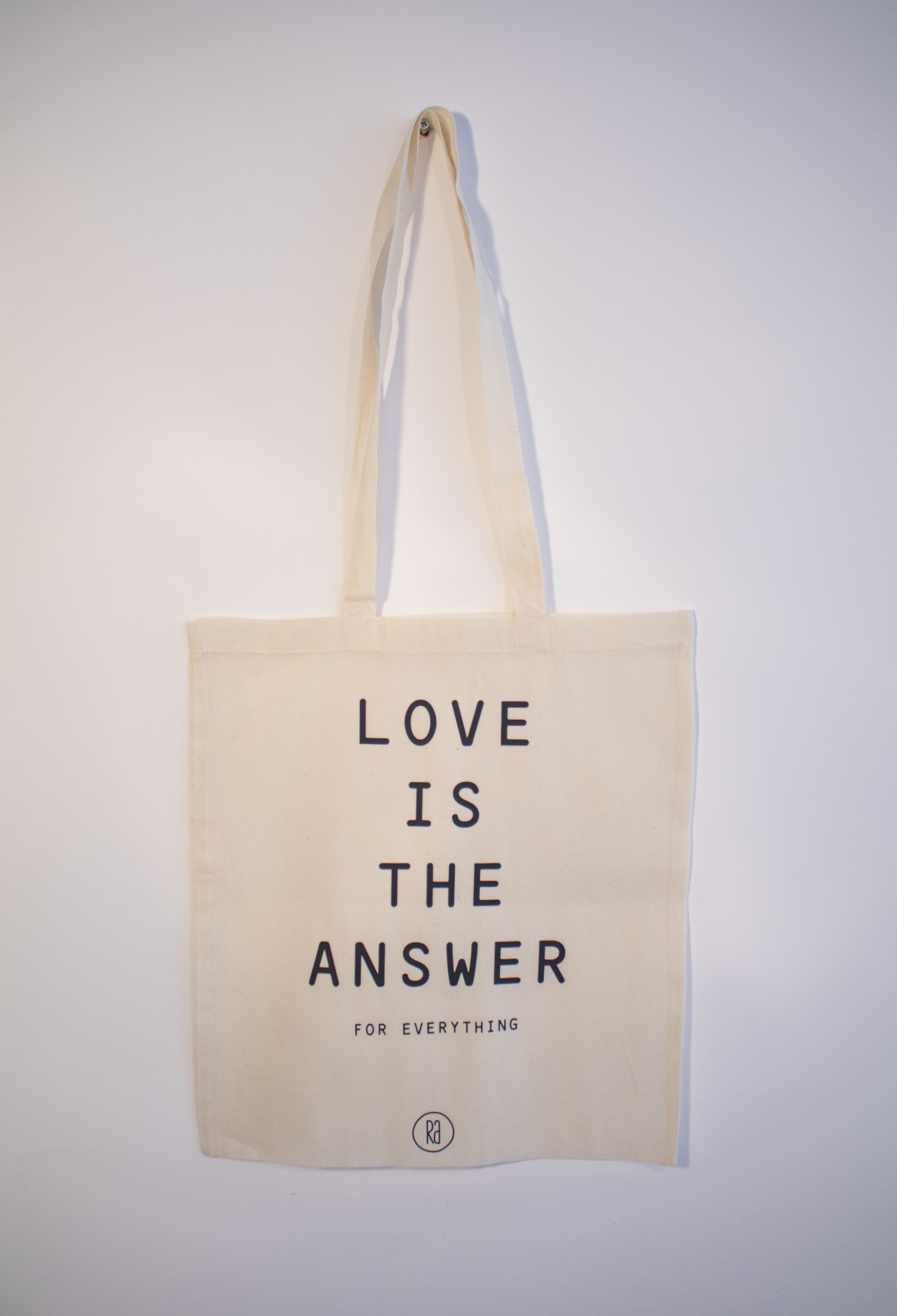 Tote Bag Bege   Love Is The Answer