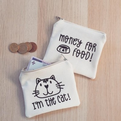 Porta-moedas Bege | Money For Cat Food