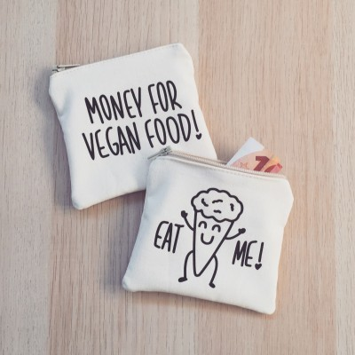 Porta-Moedas Bege | Money For Vegan Food