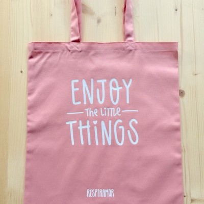 Tote Bag Rosa | Enjoy The Little Things