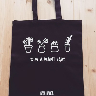 Tote Bag Preto | Plant Lady
