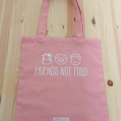 Tote Bag Rosa | Friends Not Food