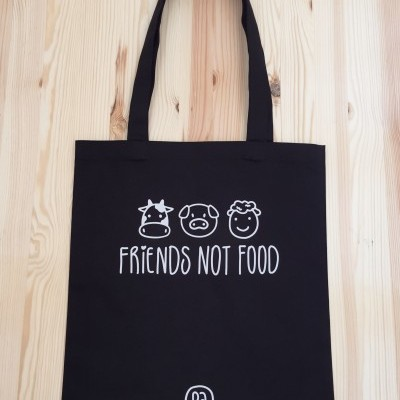 Tote Bag Preto | Friends Not Food