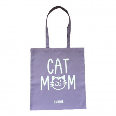 Tote Bag Lavanda | Cat Mom