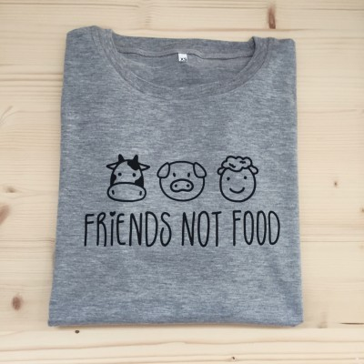 T-Shirt Cinza | Friends Not Food